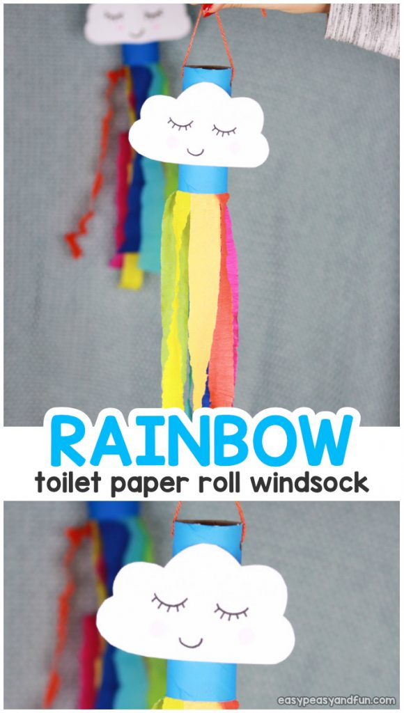 Rainbow Windsock Toilet Paper Roll Spring Craft for Kids 580x1024 - dla gr IV